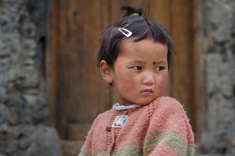 Girl. Dhankar village (Spiti).