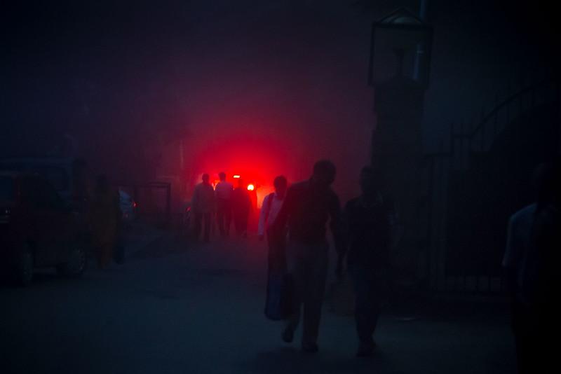 Foggy night. Shimla