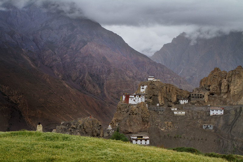 Dhankar monastery and village (Spiti).