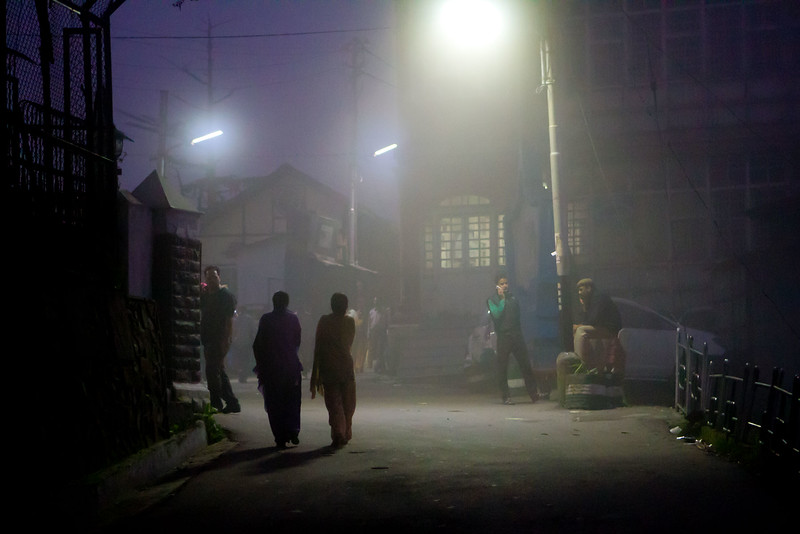 Foggy night. Shimla.