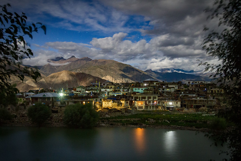Nako village at night (Kinnaur).