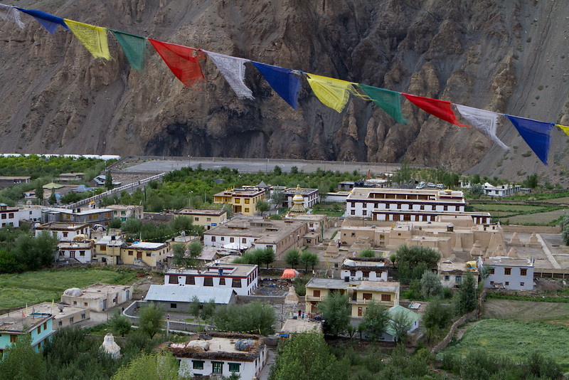 Tabo monastery and village (Spiti).
