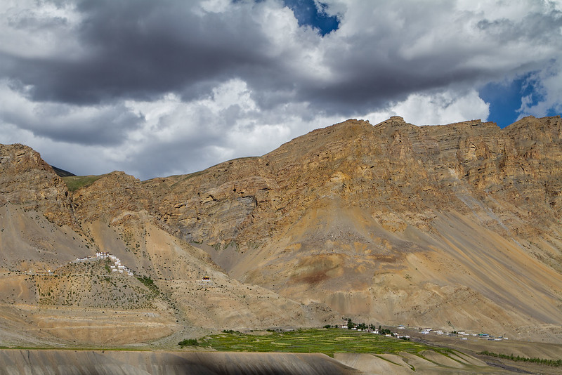 Ki/Kye Gompa (Monastery) and village (Spiti).