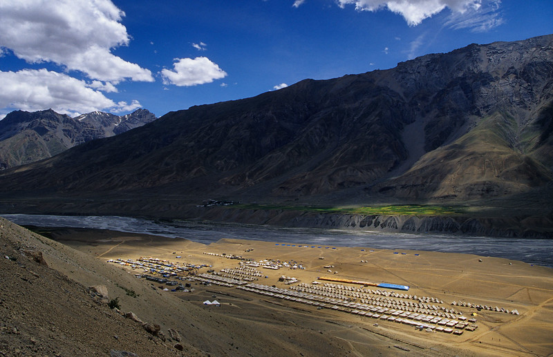 Kalachakra camp just below the Ki/Kye monastery (Spiti).