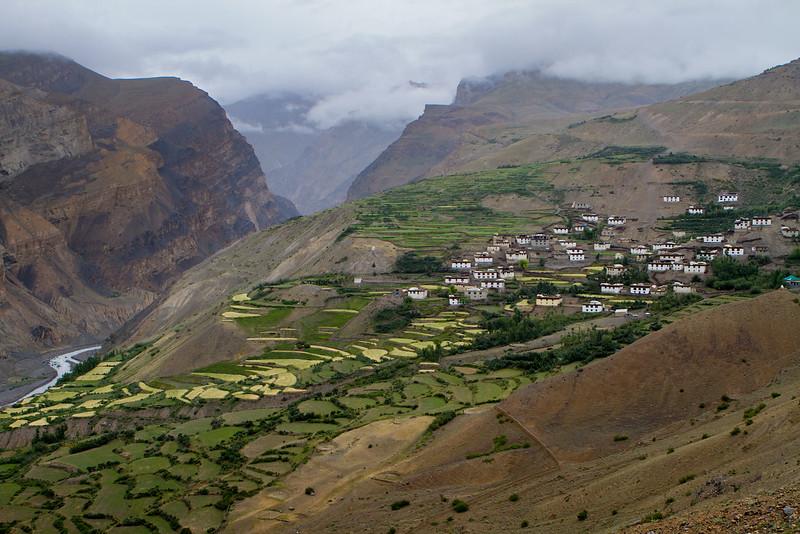 Lalung village (not far from Dhankar) (Spiti).