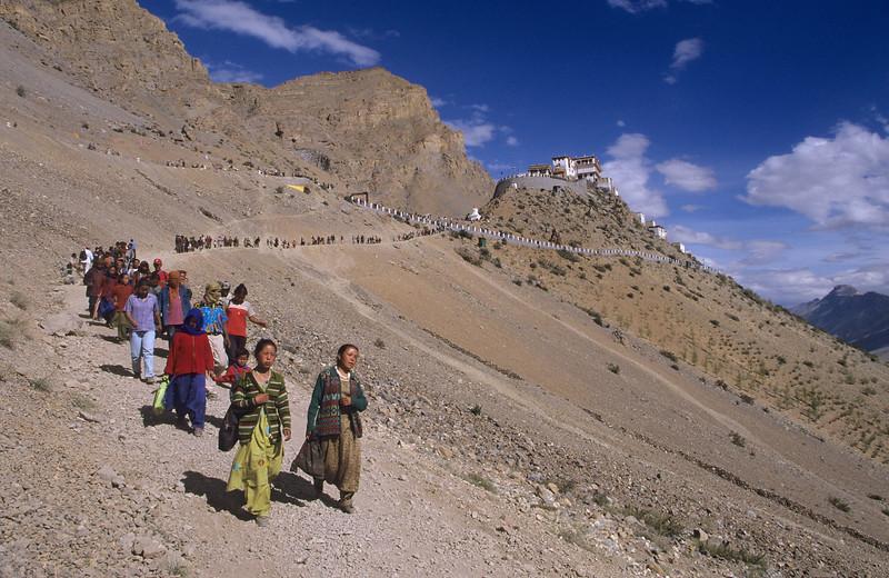 After listening to the Dalai Lama. Kalachakra at the Ki/Kye monastery (Spiti).