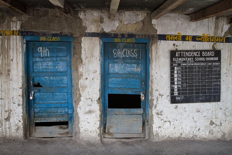 Village school. Dhankar village school (Spiti).