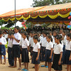 Students of the Spitler School sang the Cambodian national anthem.