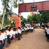 We received a very warm welcome from the children and the villagers who lined the roadway leading into the school.