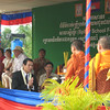 The ceremony began with a blessing from local monks.