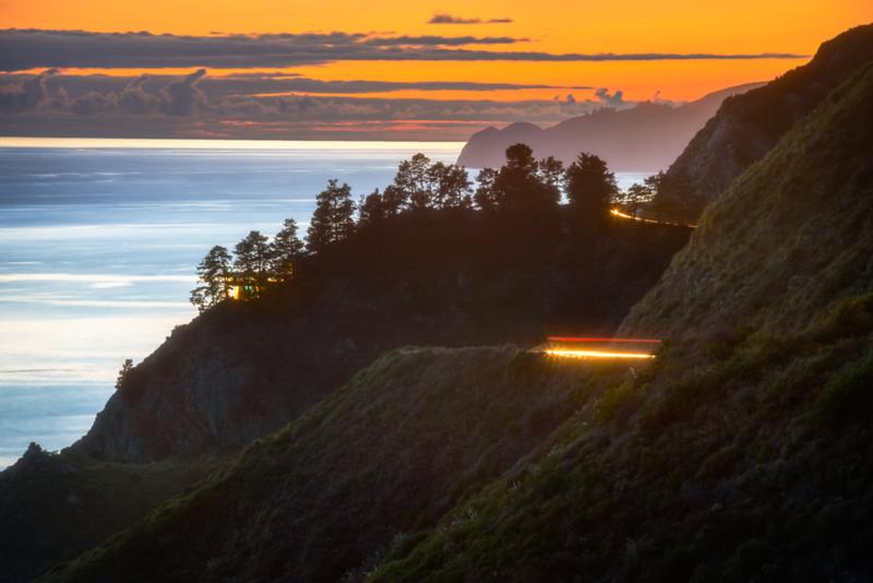 Cliffside Light Trails (Big Sur)