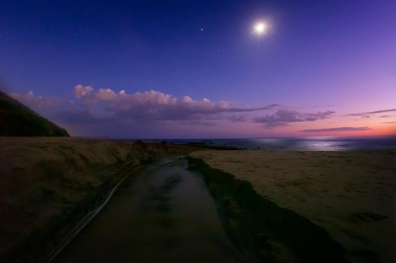 Blue Hour Moon Star