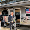 Buzz Aldrin Visiting Airstream Trailer at Splashdown 45