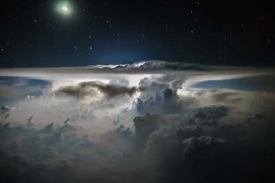 Thunderstorm over China