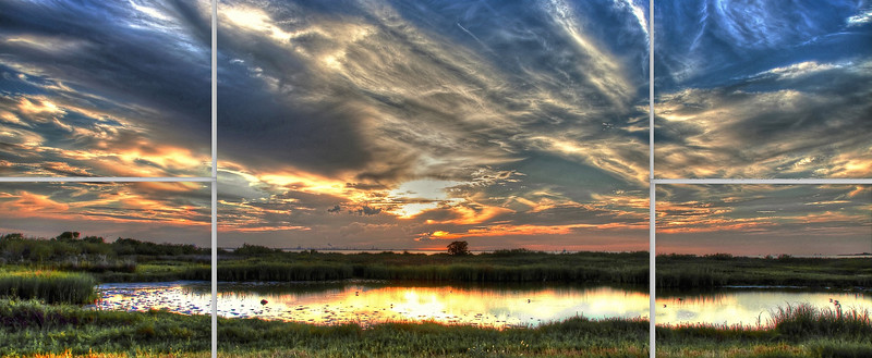 Galveston Bay Sunset Composite