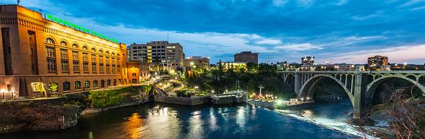 Lower Spokane Falls Evening