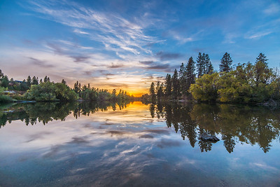 Spokane River Pure Reflection