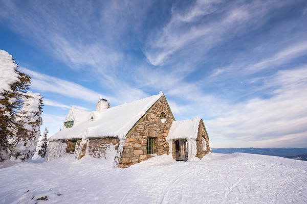 Mount Spokane Vista House in Winter