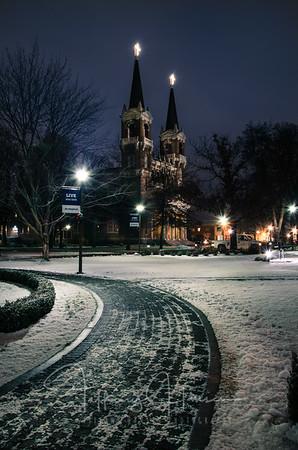 Gonzaga Snowy Walkway