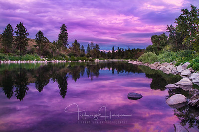 Purple Sunset on the Spokane River
