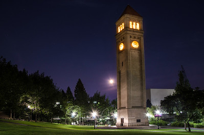Full Moon Behind Clocktower