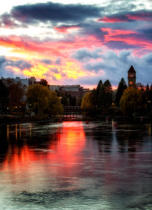 November 12 (Spokane River Sunset) 058-Edit