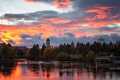 November 12 (Spokane River Sunset) 045-Edit
