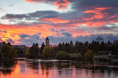 November 12 (Spokane River Sunset) 040-Edit