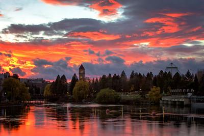 November 12 (Spokane River Sunset) 040-Edit-3-2