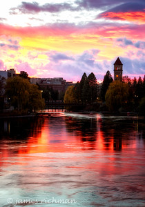 November 12 (Spokane River Sunset) 038-Edit