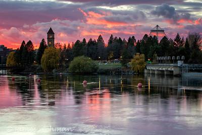 November 12 (Spokane River Sunset) 028-Edit