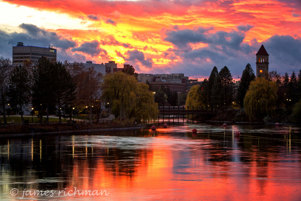 Spokane Sunsets - James Richman Photography | title | sunset in november