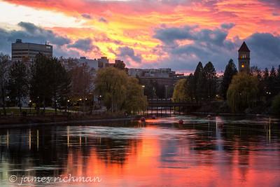 November 12 (Spokane River Sunset) 047-Edit