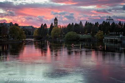 November 12 (Spokane River Sunset) 033-Edit