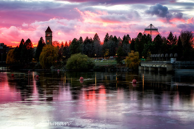 November 12 (Spokane River Sunset) 028-Edit-3