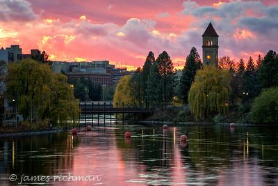 November 12 (Spokane River Sunset) 031-Edit