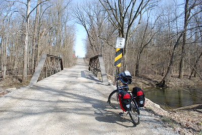 Bridge over Big Walnut Creek at about the 33 mile mark on the day's ride. There were 25 miles to go and the afternoon was getting on, so I made only one more photo stop after this.