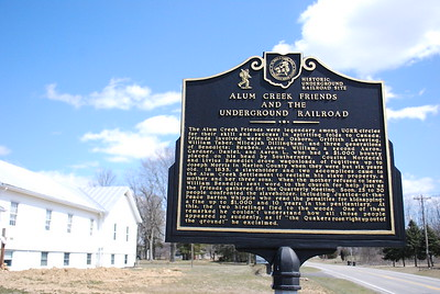 Historical Marker: Alum Creek Friends and the Underground Railroad