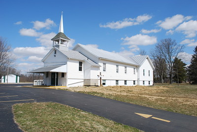 Alum Creek Evangelical Friends Church, a mile downstream from the South Woodbury crossing.