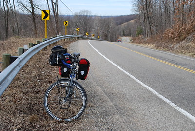 Climbing out of the Licking River valley on Black Run Road.