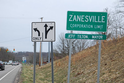 Taken just to make the point that cities are corporations, too, and just as tempted to corporate greed as any other corporations. Not that we have anything against Zanesville. We enjoyed our brief time there. For me it was all too brief before tackling more hills the next day.