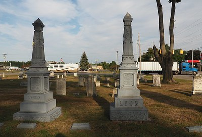 Two Grave Markers in Schoolcraft Cemetery