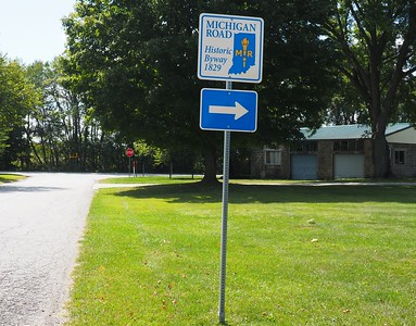 Michigan Road - Historic Byway sign
