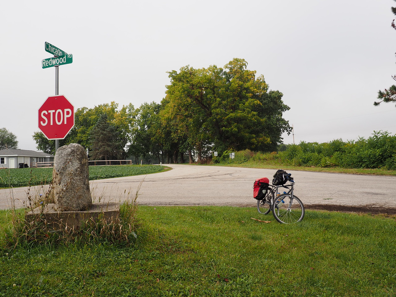 Indiana/Michigan border marker on the old Chicago Road