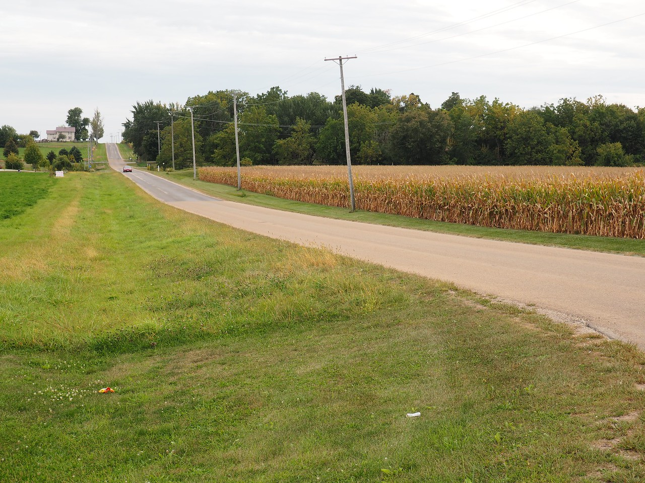 Intersection of County Road 3575E and Indian Boundary line.