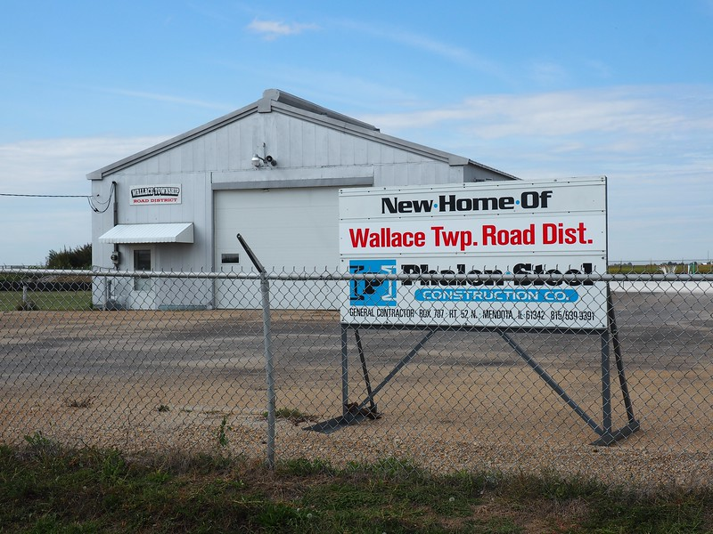 """""""New Home of Wallace Twp. Road Dist."""""""