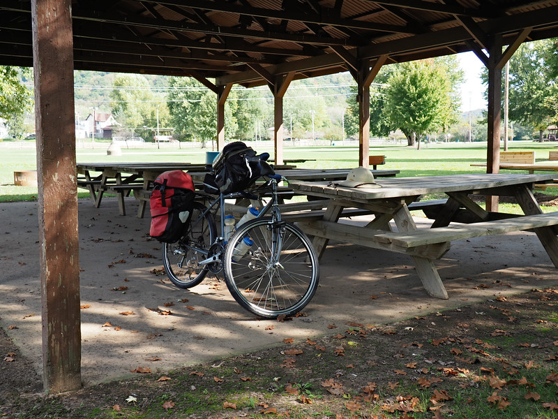 Picnic shelter at Beauford T. Anderson Park.