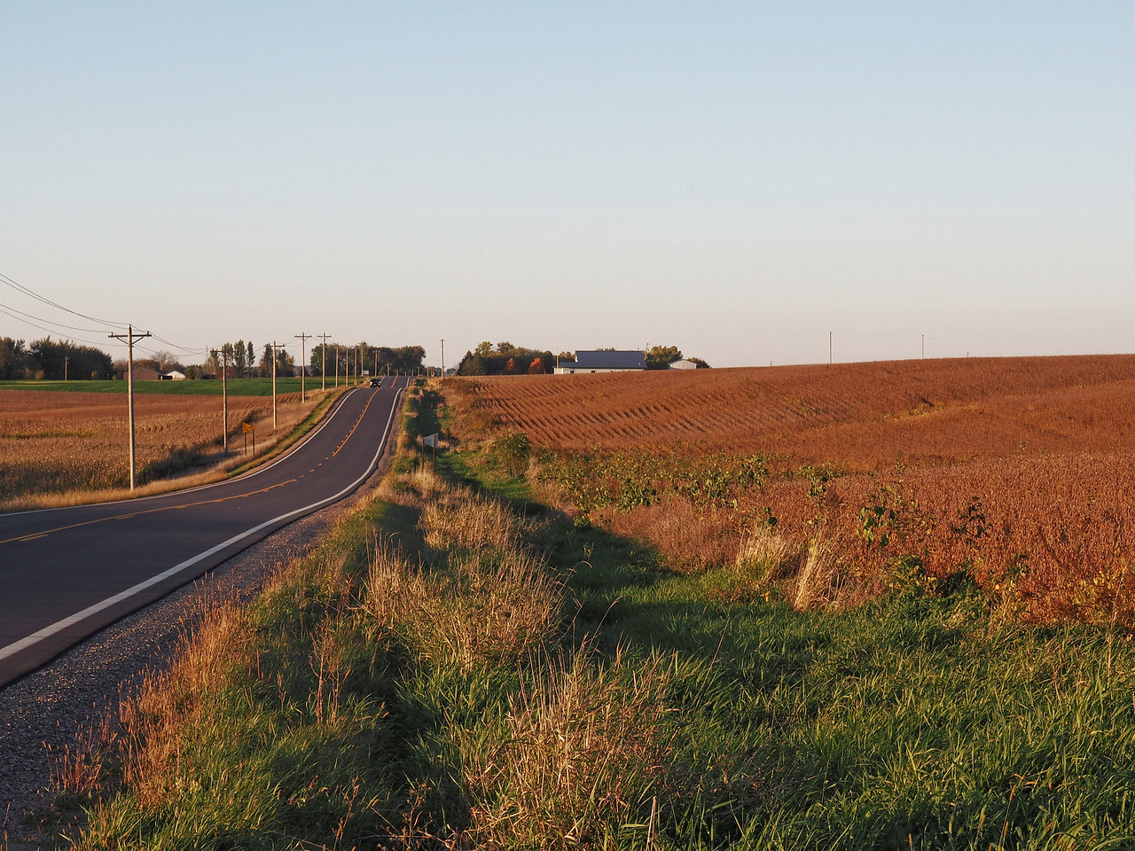Approaching Middleville Township Hall
