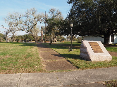 Historic Marker and the King and His Men Memorial in Refugio