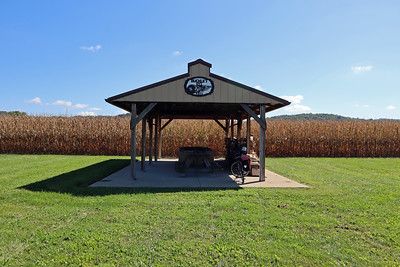 I stopped for a snack here at a picnic shelter on the grounds of the Warwick Township buildings.